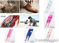 Sell printed shoe laces- love and peaces