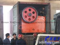 High crushing ratio stone jaw crusher with reloable quality