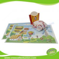 EX-PL-005 Custom Logo printed disposable paper tray liner, table menu paper