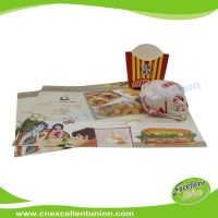 EX-PL-007 Custom Logo printed disposable paper tray liner menu paper