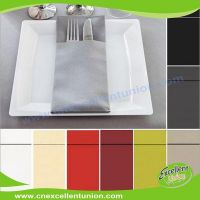 EX-AP-005 Colored Airlaid Paper Napkins, Absorbent Tissue Paper, Airlaid Towels, Airlaid Cutlery Bag