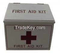 Wooden Box First Aid kit for first aid treatment