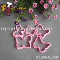 Sell  ABS cute cookie cutter & pink butterfly