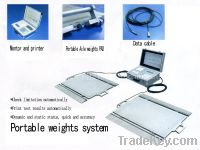 Sell portable dynamic axle weighing system, static axle weighing system