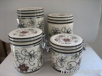 Sell Ceramic Canister, Porcelain Canister, Canister With Spoon, Jar