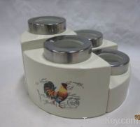 Sell Ceramic Cookie Jar, Porcelain Canister, Canister With Spoon