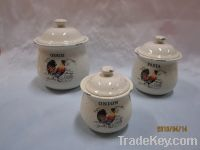 Sell Ceramic Canister, Kitchen Storage, Salt And Pepper Shaker