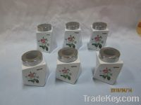 Sell Canister, Porcelain Canister, Canister With Spoon, Cookie Jar