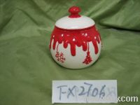 Sell Xmas Pot, Ceramic Sugar Pot, Ceramic Pots, Xmas Sugar&Creamer Pots