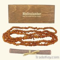 Sell Raw Baltic Amber Necklace - long