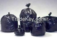 LDPE black thrash bags in bales