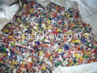 Mix HlDPE bottles flakes