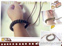handmade weave knot wax string bracelet, Sell