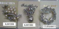 Sell rhinestone brooch (XJW1059)