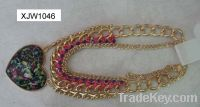Sell cordate charm necklace (XJW1046)