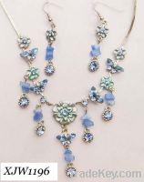 Wholesale acrylic alloy jewelry set(XJW1196)