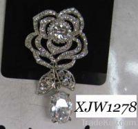 Sell rhinestone brooch(XJW1278)