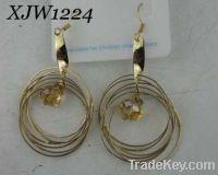 Wholesale rhinestone pendant earrings(XJW1224)