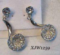 Sell curve shape earrings(XJW1259)