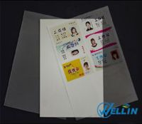 Instant silver pvc card material