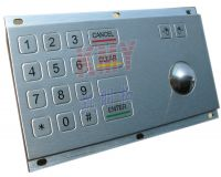 Sell KMY3505A 3DES Encrypted Metal Pinpad with integrated Trackball