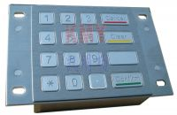 Sell 16(4X4)Keys 3DES Stainless Steel Keypad/PINpad/Keyboard(IP65, NEM