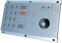 Sell 16(4x4)Keys 3DES Stainless Steel Keypad/PINpad/Keyboard Trackball