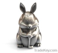 metal rabbit shape coin bank for gifts