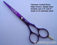 Laser mark designed Titanium Coated Barber Scissors