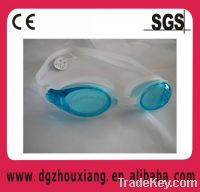 Sell One-piece silicone dive glasses/swimming goggles