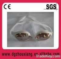 Sell Flexible silicone swimming glasses with UV vision/diving goggles