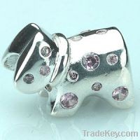 Sell Sterling Silver Beads with stone