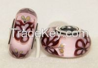big hole lampwork glass beads for bracelets ot necklace