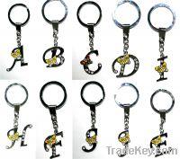 Sell enamel letters key chain