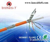 Sell orange stp cat6 network cable passed fluke test