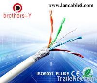 Sell sftp white cat5e lan cable (solid&stranded) OEM