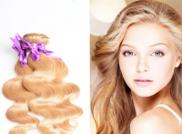 7A quality blond hair 27 color brazilian virgin remy hair artifical hair human hair body wave hair curtain 100g