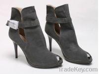 Peep Toe Booties with a high heel
