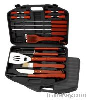 Sell Bbq Tool Set Made Of Head-420 Hard Wood Handle Thick Plastic Case
