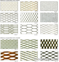 expanded wire mesh sizes