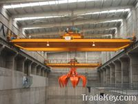 Sell bridges crane with grab for waste