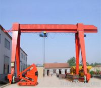 Sell gantry crane with electric hoist