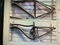 Titanium bicycle frame