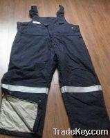 offer flame-retardant cotton suspender trousers