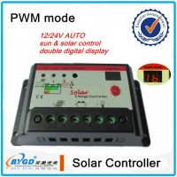 Useful landstar pwm solar charge controller, digital diaplay 15A, 12V/24V
