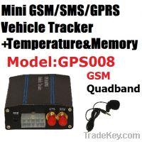 Sell Temperature Sensor Car GPS Tracker Supporting Internal Memory
