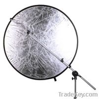 Telescopic collapsible reflector holder