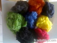 Sell Poly-Cotton (CVC) color recycled fiber