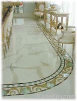 Sell marble tiles, white onyx, onyx, precious stone