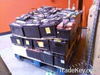 Sell Used car batteries, drained car batteries and car batteries scrap
